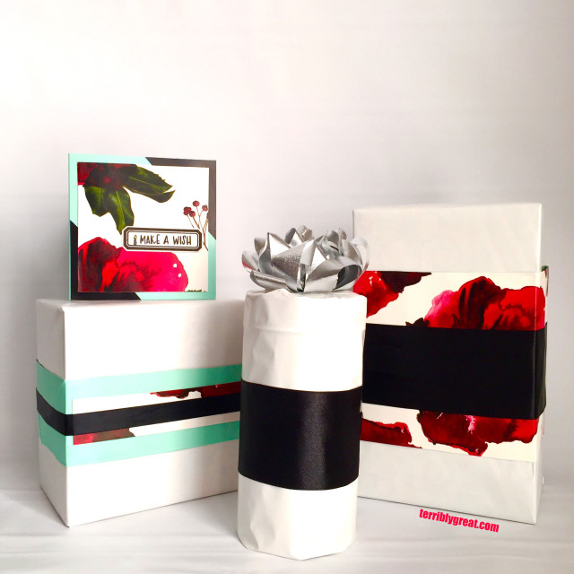 reused Teavana packing to wrap gifts