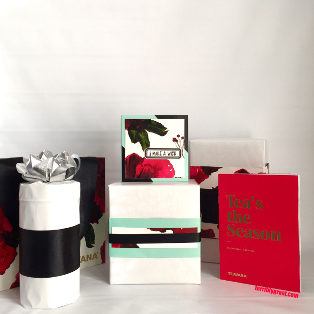 Birthday gifts wrapped using Teavana packing